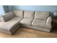 Next L-Shape Sofa & 2-Seater Love Seat