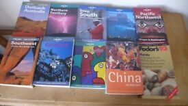 10 Lonely Planet/Rough/Fodor Travel Guides. Unused, but previous editions. Most information current.