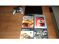 PS2 WITH GAMES & CONTROLLER *****CHEAP*****