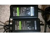 two sony 19.5 laptop chargers 4 sale