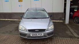 Ford Focus LX 1.6l Petrol 5 door, 2005, 152,500 miles, E/W, A/C, Silver, MOT Jul'18, FSH