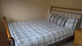 Wrought iron king size bed frame for sale