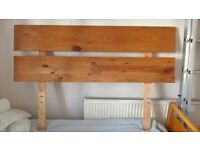 Solid pine handmade headboard for double or kingsize bed