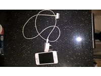 Iphone 4s with charger and cable, used but good condition