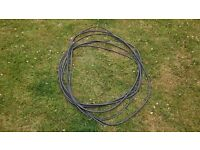 New 18.5m 3 core 2.5mm Armoured Black Electric Cable