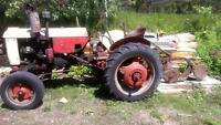 Case VA tractor with 2 furrow plow
