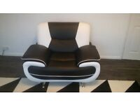 Black & white armchair