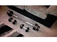 62kg Cast Iron Barbell/Dumbells Weight Set