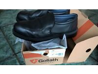New & Boxed Goliath CL74 Executive Slip on Safety Shoe, Black, Size UK 9 For only £13.00