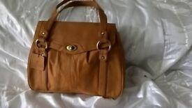 Joshua Taylor Genuine leather Tan Suede Handbag