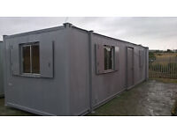 PORTABLE CABIN-32ft STEEL OPEN PLAN OFFICE-SHIPPING CONTAINER-READY TO GO