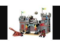 Rare - Lego Duplo Knights castle and seige tower and dragon