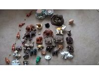 LARGE COLLECTION OF ELEPHANT ORNAMENTS INCLUDING 2 CANVASES