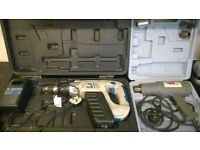 spares repair tough 21.6v xpro cordless hammer drill battery charger earlex 1600w heat gun in case