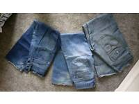 Levi and zara men's jeans size 32 and 30