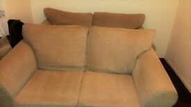2 Comfy Beige Sofas for Sale £140 for Both or £80 Each