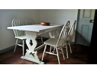 Oak painted dining table - shabby chic REDUCED**