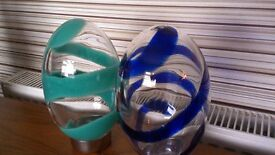 2 LARGE GLASS EGGS reduced price