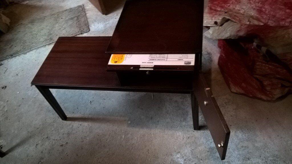 Dark Wood Telephone Table