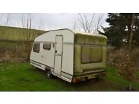 Scrap 1980's caravan free for uplift