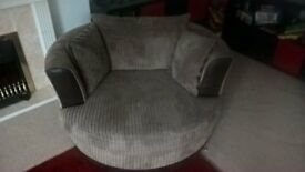 dfs mocha cuddle chair, good condition £200 colection only