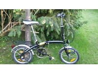 folding bicycle,compact 6 speed,runs perfectly,folds very compactly