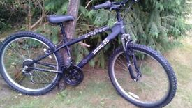 x-rated 05 front suspension 14.5 in frame,26 in wheel,runs perfectly,bargain