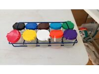 Paint pots and holder - kids' crafts