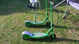 2 X Razor E200 Electric Scooters