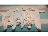 4 fleece baby grows 3-6 months