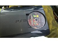 sony ps3 console with games pad wires