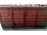 Two fence panels