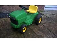 kids ride on garden tractor