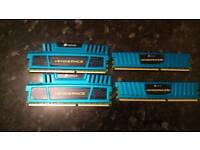 16GB CORSAIR VENGEANCE DDR3 1600MHz RAM 4X4GB