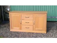 Solid oak sideboard for sale. New condition. compact contemporary classic style.