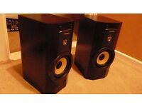 high quality technics bi wired book shelf speakers