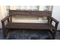 3 Seat Heavy Duty Patio/Garden/Park Bench