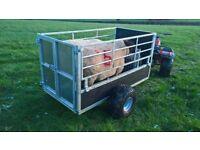 Quad sheep trailer