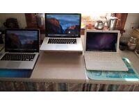Apple laptops : Macbook White & Black 13,Macbook Pro Unibody 13 & 15!Refurbished,upgraded,updated!