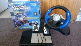 Playstation Xbox GameCube Steering wheel with Pedals