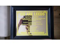 Small leeds united mirrored pitcher