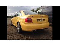 B5 Audi S4 Quattro 2.7 V6 Bi-Turbo - FSH Imola Yellow Milltek Wagner Nogaro S3 RS4 R32
