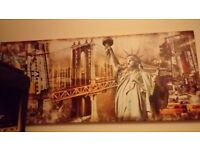 New York City Collage Canvas Large Wall Art