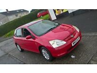 HONDA CIVIC V TEC 02 PLATE IMMACULATE MOTD NEXT JULY HIGH MILES FULL DEALER HISTORY £475 PX POSS