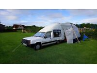 'Retro' Campervan. Rare Renault Extra Trailfinder 1991.Diesel. 8 months mot