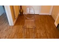 Brand New Clear Plastic Dressing Table/Dining/Side Chair - Never Used/Still wrapped