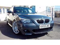"BMW 520d Msport touring, Platinum grey 19"" spyder alloys full black leather"