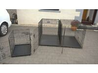 3 dog crates 2 large one small