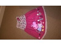 Peppa pig girls dress 3-4 years