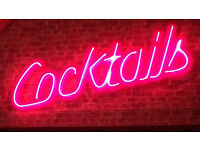 Cocktails Neon Sign Nightclub Bar Signage Pink Neon Commercial Signs Custom Made